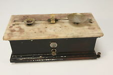 Vintage Marble Top Railroad Depot Balance Scale NYC Apprd No 17 W-2