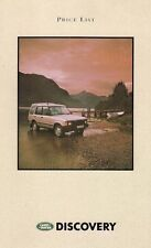 Land Rover Discovery 1991-92 UK Market Prices & Options Foldout Brochure V8i TDi
