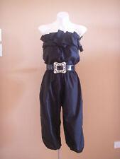 VINTAGE HARAH BLACK DRESS PLAYSUIT  6-8-10-12-14-16