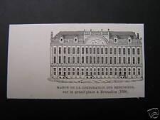 antieke Print Maison Ducs Brabant Brussel architectuur