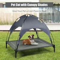 Large Dog Elevated Bed Canopy Camping Portable Pet Cat Cot Tent Indoor/Outdoor