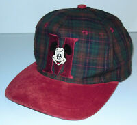 Vintage 90s Mickey Mouse Hat Cap Snapback Disney Plaid Goofy's Hat Embroidered