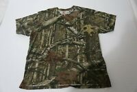 Game Winner Mens XL Realtree  Camo T-Shirt  Hunting Fishing Outdoors Crew EUC