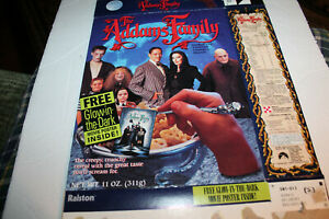 Cereal Box:  THE ADDAMS FAMILY  Live Action Movie  1991.
