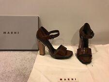 Marni MSRP $625 Womens Size 7/37 Sandals Heels