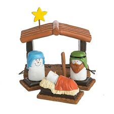 Original S'more 4 piece  Nativity Set Free Ship USA