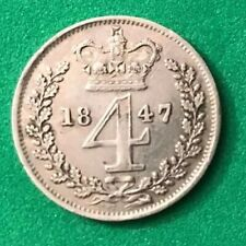 Rare Queen Victoria Maundy Silver 4d (Groat) Only 4158 Minted