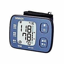 Omron Wrist HEM-6220-BL Blood-Pressure Meter monitor Auto Blue from Japan*