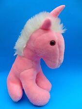 Pink Unicorn Plush Superior Toy & Novelty Korea Vintage NIce 13'