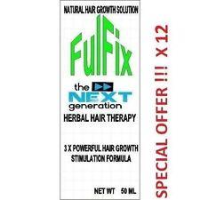12 x 50ml fulfix hair loss Herbal Therapy NEXT GENERATION Formula & vitamins