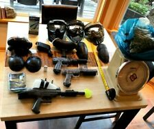 Big Lot of Paintball Guns, Markers, Facemasks, + More + Optional Paintballs ++