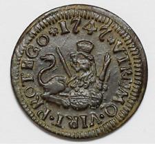 FERNANDO VI  Moneda 1 Maravedi 1747, Ceca Segovia España Colonial   EBC/EBC+