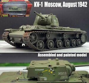 Easy model WWII Russian KV-1 heavy tank Moscow 1942 1/72 plastic diecast