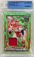 Patrick Mahomes 2019 Panini The National VIP Party Neon Green Memorabilia #2 /25