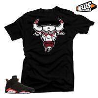 Shirt to Match  Jordan 6 Retro Black Infrared-Bull 6 Black Tee