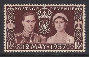 GB 1937 sg461 Coronation King George VI stamp MNH