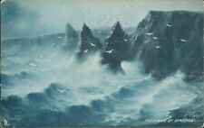 Dunscanby stacks Tucks sapphire rough sea