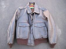 Vtg Oakton Leather Motorcycle Aviator Biker Riding Bomber Men's Jacket Coat 46