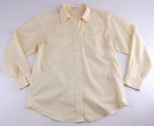 Foxcroft Shirt Top Size 12 Yellow Wrinkle Free Classic Long Sleeve
