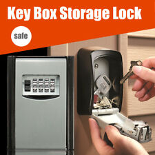 4 Digit Key Storage Box Cabinet Security Combination Safes Heavy Lock Wall Mount