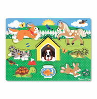 Melissa and Doug 19053 - Wooden Peg Puzzle - Pets - NEW!!