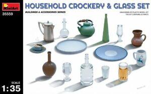 Miniart 35559 - 1/35 Household Crockery And Glass Set Scale Plastic Model Kit