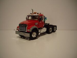 FIRST GEAR 1/50 RED MACK GRANITE MP DAY CAB SAME SCALE AS DIECAST MASTER