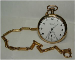 1917 Ingersoll Reliance Open Face Pocket Watch Runs Great!