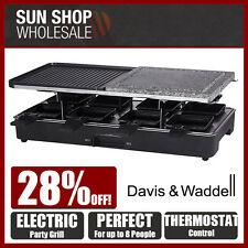 100% Genuine! DAVIS & WADDELL Taste 8 Person Electric Party Grill Black!