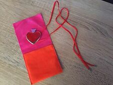 YSL Rare, Vintage, Club Heart Necklace & Brooch. Jewellery, Red, Designer.
