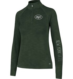New York Jets Women's '47 Shade Green Quarter-Zip Pullover - MSRP $55 - NWT