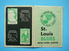 1969/70 O-PEE-CHEE 4-IN-1 MINI STAMP ALBUM ST. LOUIS BLUES INSERT BOOKLET OPC