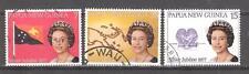 PAPÚA NUEVA GUINEA  nº 320/322º Isabel II. Serie Completa