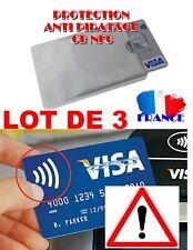 3 Etuis ANTIPIRATAGE Protection carte Bleue sans contact RFID/NFC Visa bancaire
