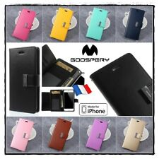 Etui Folio housse coque Cuir PU Leather  Mercury Stand Wallet Case iPhone