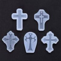 DIY Silicone Resin Mold Cross Mould Pendant Jewelry Tool Creative Molds Q0V8