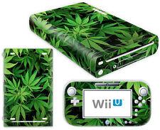 Nintendo Wii U Skin Design Foils Aufkleber Schutzfolie Set - Cannabis 5 Motiv