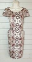 M&S AUTOGRAPH Pink Pocketed Shift Dress 12 Wedding Party Occasion