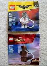 LEGO Guardians Of The Galaxy & Batman - Teen Groot & Kiss Kiss Keychains - New