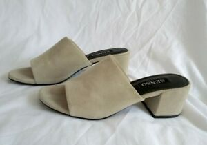 SENSO Ray Suede Mules - Cloud Grey - Small Block Heel - Size 38 RRP$149
