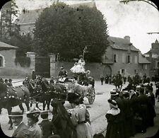 RENNES 1907 - Fête Char Marchands de Vins - Bretagne Positif Verre 10 x 8 - 88