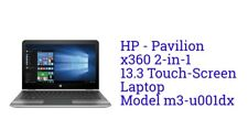 """HP Pavilion x360 Convertible 13.3"""" Touch-Screen Laptop, i3/6GB/500GB HD, Silver!"""
