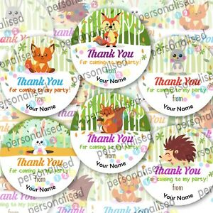 Personalised Birthday Stickers Thank You For Coming To Party Sweet Cone Labels
