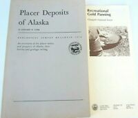 Softcover Book Placer Deposits of Alaska Cobb Gold Panning Brochure Chugach NF