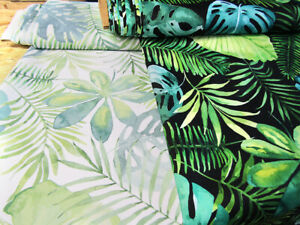 Tropical leaves Waterproof fabric PVC fabric Water Resistant Fabric Apparel Bag
