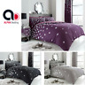 Black Grey Duvet Cover Set with Pillowcase Quilt Bedding Set Double King S.King