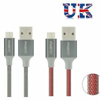 2M Strong Braided Micro USB Data Sync Charger Cable Lead for Android Phone