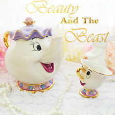 Disney Beauty And The Beast Teapots Mugs Mrs. Potts Chip Tea Pot and Cup Set