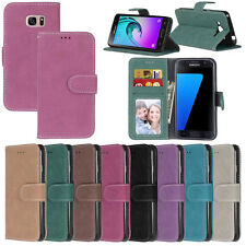 Matte Card Wallet Leather Flip Magnetic Case Cover For Samsung S4 S5 S6 S7 Edge