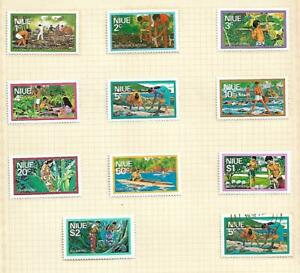 Niue 1976 Local Views set Mint Hinged on Album page